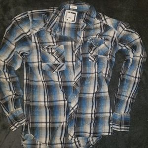 EUC Mens BKE vintage washed plaid button up